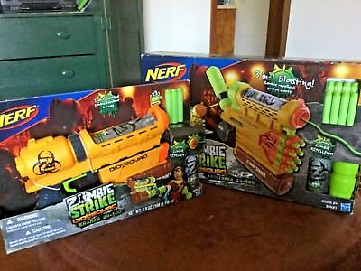 New Nerf Biosquad LOT ~ Zombie Strike Abolisher ZR-800, Eraser ZR-100