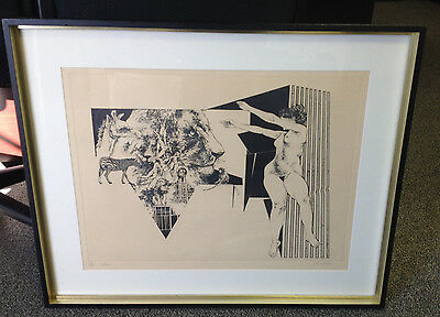 """Limited Edition Etching """"Arena"""" by Jack Coughlin - Signed, Numbered, Framed"""