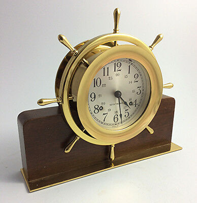 Vintage Seth Thomas Helmsman nautical ships bell clock Made in USA Conn.