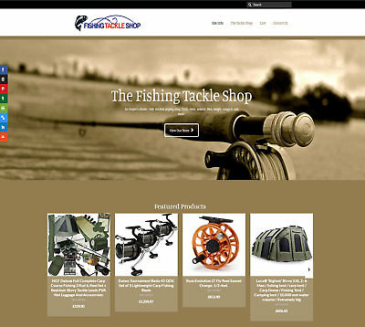 Fully Stocked FISHING TACKLE business: FREE Domain/Hosting. Up to £230 per sale!