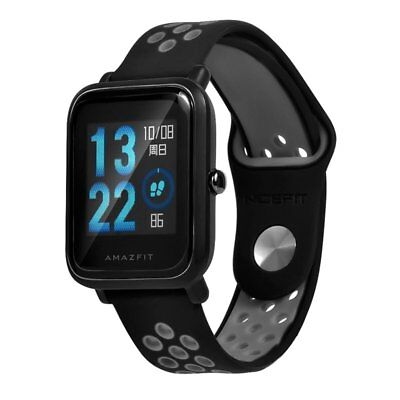 Replacement 20mm Silicone Double Color Watch Band Strap For Huami Amazfit Bip Sm