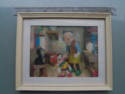 1960's 3D Animation Framed Print .. Rare Find ... Pinocchio