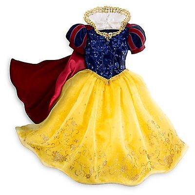 f2d7b1bf04 Disney Store Snow White Limited Deluxe Princess Dress Costume Halloween 7 8  NEW