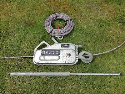 TIRFOR TU16 winch with 20M cable & handle