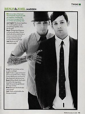 Benji & Joel Madden Good Charlotte 1 Page 2006 Magazine Picture Clipping