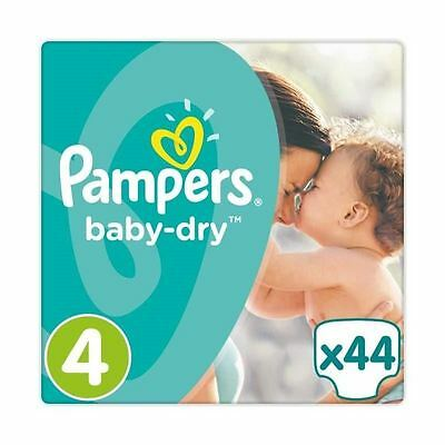 Pampers Baby Dry Nappies Size 4 Essential Pack Flexible Side 8kg-16kg Pack of 44