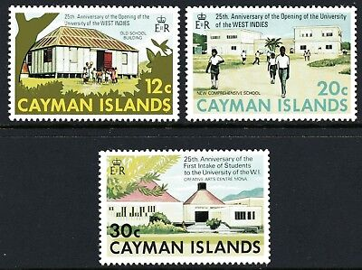 Cayman Islands 1974 University of West Indies set of 3 Mint Unhinged