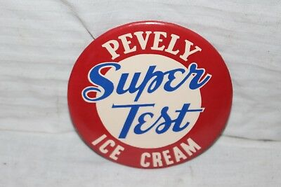 Vintage 1950's Pevely Super Test Ice Cream Shop Grocery Store Metal Sign~Nice