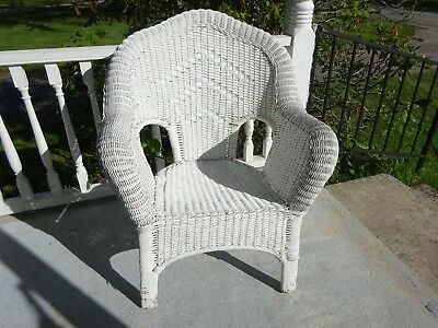 White Real Wicker Chair ~ Pick Up RI 02898