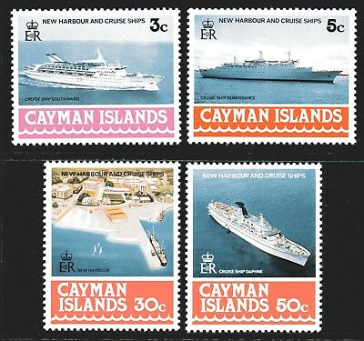 Cayman Islands 1978 New Harbour and Cruise Ships set of 4 Mint Unhinged