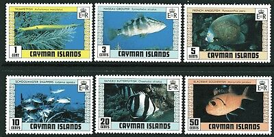 Cayman Islands 1979 Fish 2nd Issue set of 6 MUH