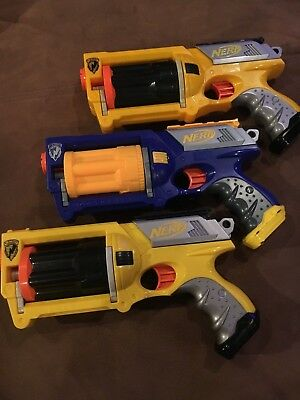 Lot of 3 Nerf N-Strike Maverick Rev-6 Dart Gun Blaster NO DARTS