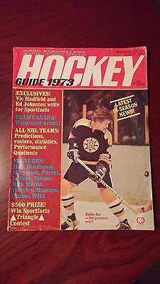 Hockey Guide Magazine 1973 BOBBY ORR Cover - Canadian Edition
