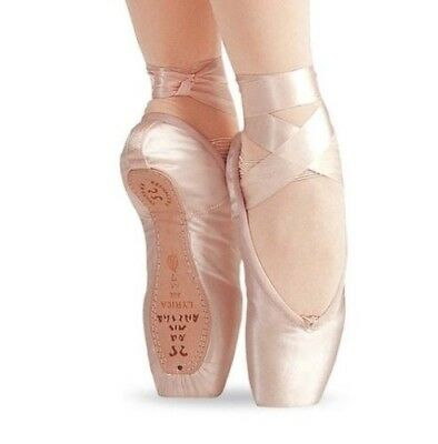 "Sansha ""Lyrica"" 404 8W Ballet Pointe Shoe Peach Pink"