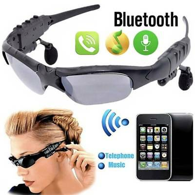 Wireless Bluetooth Sunglasses Headphone w/ Mic Sport Headset For iPhone Android