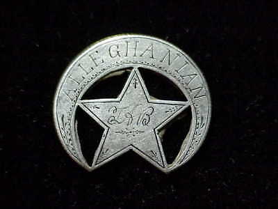 Civil War ID tag Alleghanian PA engraved coin CWT civil war Corps badge