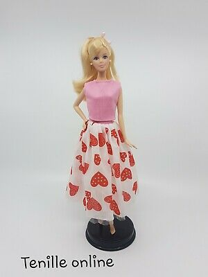New Barbie clothes/outfit/princess/wedding dress gown purple lace and shoes x1
