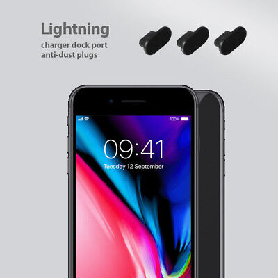 3 set pack iPhone 8 Charging Port Cover Lightning Plug Anti Dust Silicone Cap
