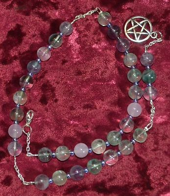 Witches Ladder Meditation Beads Flourite Pagan/Wiccan/Druid