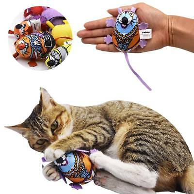 Colorful Funny Cat Chew Toy Canvas Mouse Mice Catnip Catmint Stuffed Toy Useful