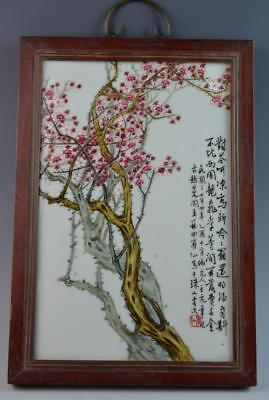 Chinese Famille Rose Porcelain Wall Plaque