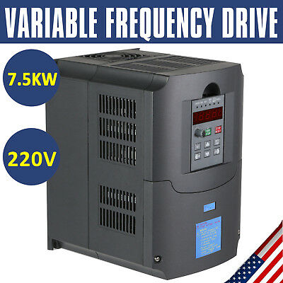 Newest 7.5Kw 220V 10Hp 34A Vfd Variable Frequency Drive Inverter Ce Quality