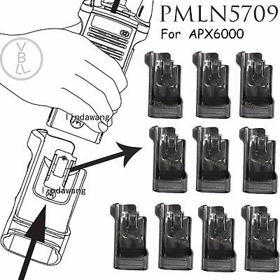 10x PMLN5709 Universal Carry Holder case with clip For Motorola APX6000 Radio