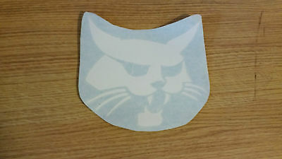 """Bobcat Cat Head decal for your toolbox, laptop, truck window, white 8"""""""