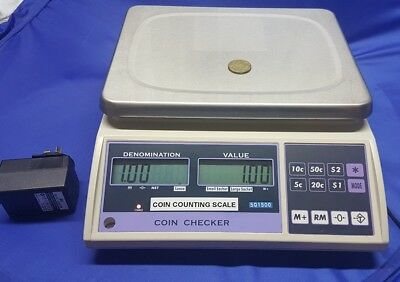 Australian Coin Counting Scale 15kg AS NEW Coin Checker Gaming & Retail