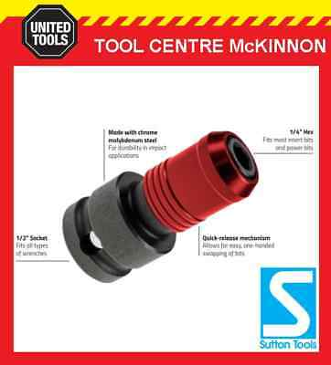"""P & N By Sutton Tools 1/2"""" Socket To 1/4"""" Hex Adaptor For Impact Wrenches"""
