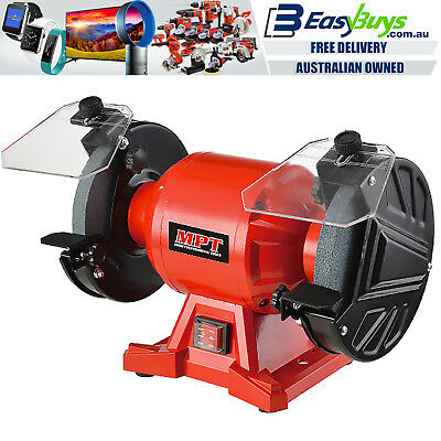 MPT Heavy Duty Quality Bench Grinder Industrial 150mm with Grinding Wheels Guide