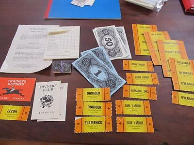Vintage Board Game SPARE PARTS Totopoly  INCOMPLETE