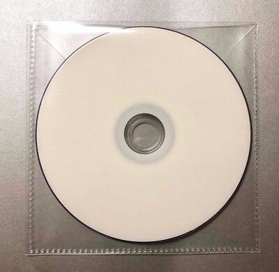 100 CD DVD CPP Clear Plastic Sleeve with Flap, stitching on borders, 120 micron