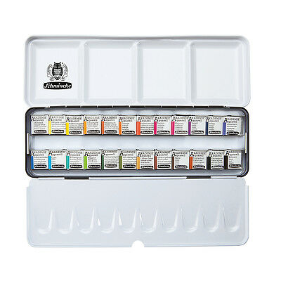 Schmincke Akademie Aquarell Watercolour Travel Set - 24 Half Pans