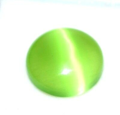 6.30   Cts Antique Gem Ggl Certified Natural Green Apatite Cats Eye