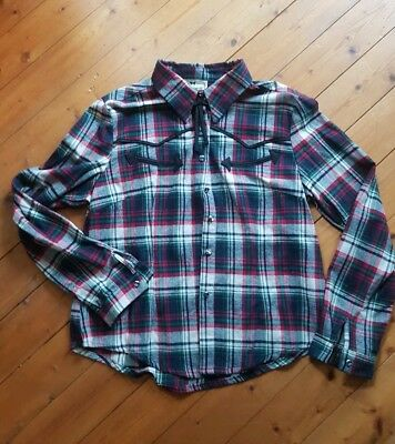 collectif western flanell bluse pin up xl