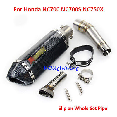 Motorcycle Exhaust System Pipe Middle Connect Pipe For Honda NC700S NC750X NC700