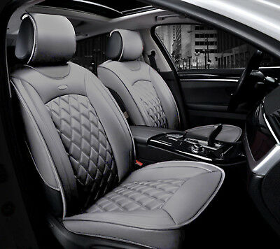 Deluxe Grey PU Leather Front Seat Covers Padded For Vauxhall Astra Mokka Corsa