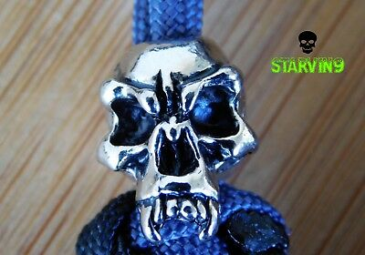 Paracord knife lanyard- Fang skull -fits zero tolerance,CRKT & spyderco