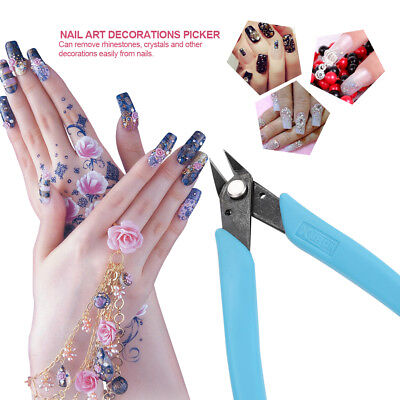 Micro Shear Flush Cutter Nail Art Rhinestone Gems Bead Remove Picker Tools