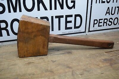 Vintage Timber Mallet  Carpenters Mallet Woodcarver Woodworking Old Tool