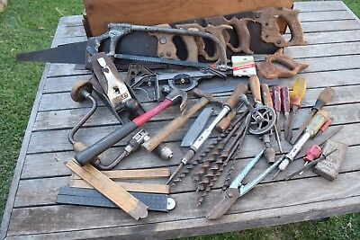 Vintage Collection Of Woodworking Stanley Marples Rabone  Old Tools