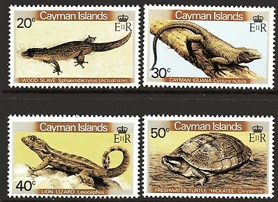 Cayman Islands 1981 Reptiles and Amphibians set of 4 MUH