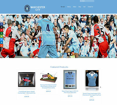Fully Stocked MAN CITY business: FREE Domain/Hosting. Up to £49 per sale!