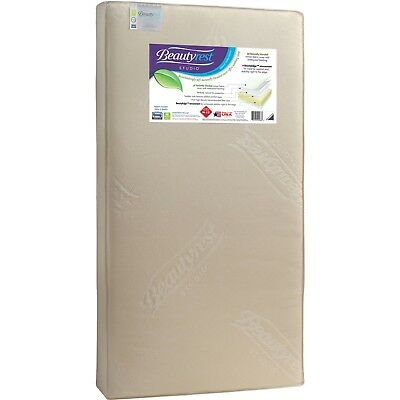 Toddler Crib Mattress Organic Waterproof Baby Bed Infant 2-Sided Beautyrest