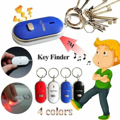 LED Anti-Lost Key Finder Locator Keychain Whistle Sound Control Keyring Tracker