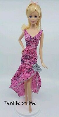 New Barbie doll clothes outfit quality fancy glittery long dress