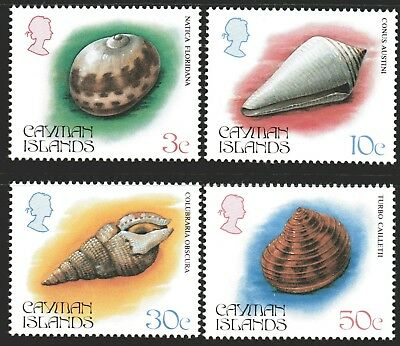 Cayman Islands 1984 Shells 3rd Issue set of 4 Mint Unhinged