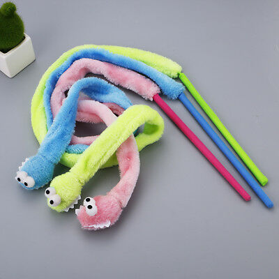 Cat Kitten Various Coloured Snake Teaser Wand Activity Toy