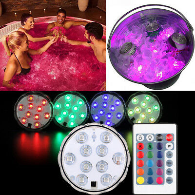 16 Colour Remote Control LED Underwater Light Pool SPA Lamp Waterproof Pond Aqua